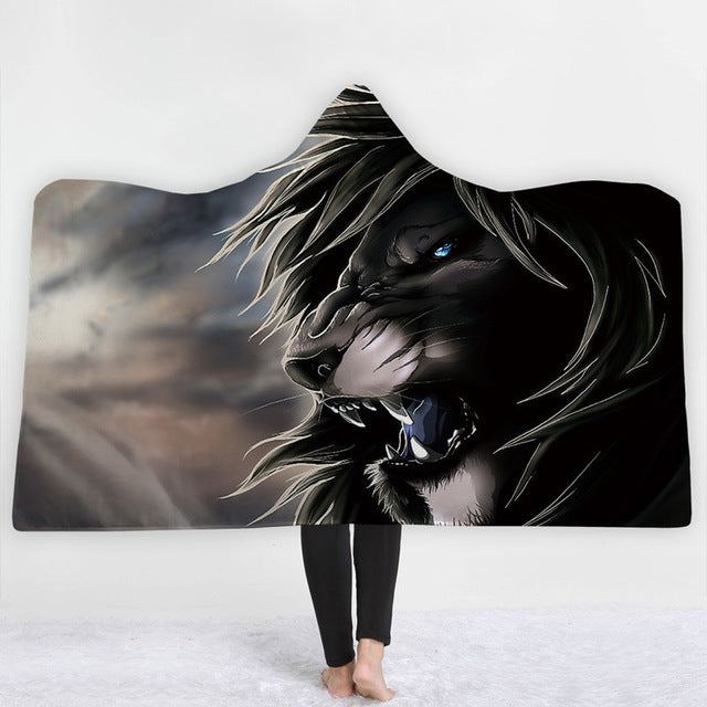 Angry Lion Hooded Blanket - 2 sizes - My Diva Baby