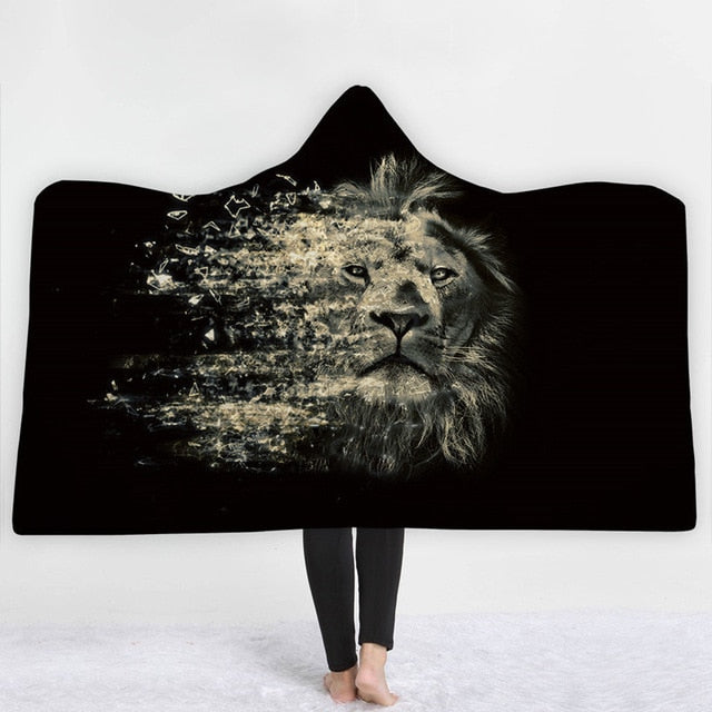 Fading Lion Hooded Blanket - 2 sizes - My Diva Baby
