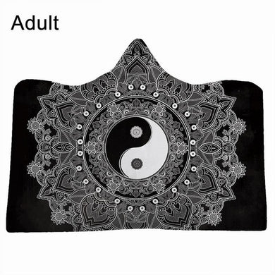 Yin and Yang #15 Hooded Blanket - 2 sizes