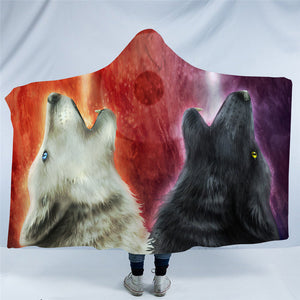 We Wanna Let The World Know by Khalia Art Hooded Blanket - 2 sizes