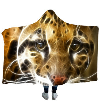 Electro Tiger Hooded Blanket - 2 sizes - My Diva Baby