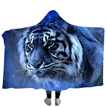 Blue White Hooded Blanket - 2 sizes
