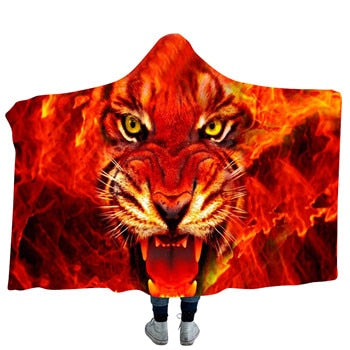 Fired Up Tiger Hooded Blanket - 2 sizes - My Diva Baby