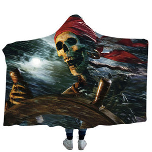 Dead Pirate Hooded Blanket - 2 sizes - My Diva Baby