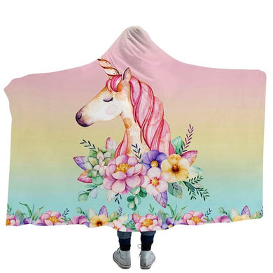 Unicorn 12 Hooded Blanket - 2 sizes
