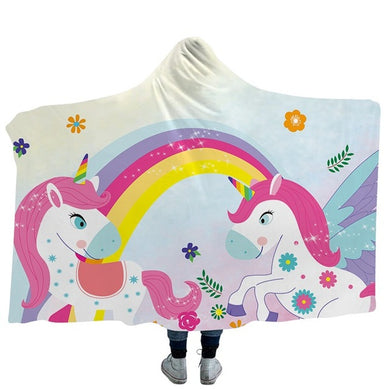 Unicorn 7 Hooded Blanket - 2 sizes
