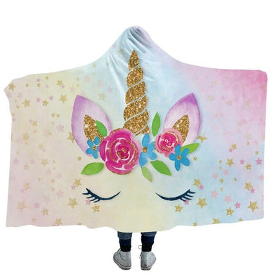 Unicorn Lashes Hooded Blanket - 2 sizes