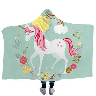 Unicorn 6 Hooded Blanket - 2 sizes