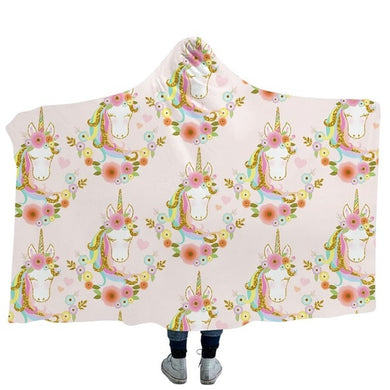 Unicorn 10 Hooded Blanket - 2 sizes
