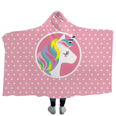 Unicorn 4 Hooded Blanket - 2 sizes