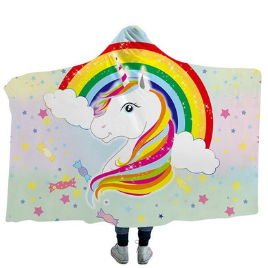 Unicorn Stars Hooded Blanket - 2 sizes
