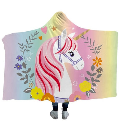 Unicorn 3 Hooded Blanket - 2 sizes