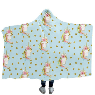 Unicorn 8 Hooded Blanket - 2 sizes