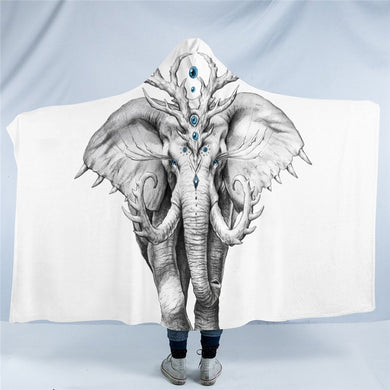 Elephant Soul by JoJoesArt Hooded Blanket - 2 sizes - My Diva Baby