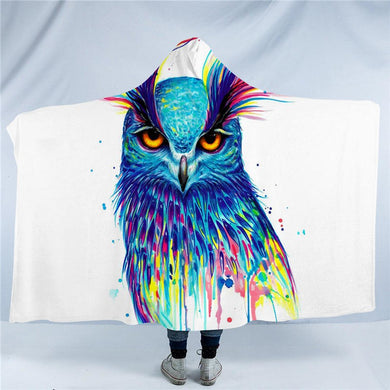 Into the Blue by Pixie Cold Art - Hooded Blanket - 2 sizes