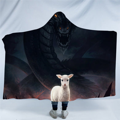 The Lamb and the Dragon by JoJoesArt Hooded Blanket - 2 sizes - My Diva Baby