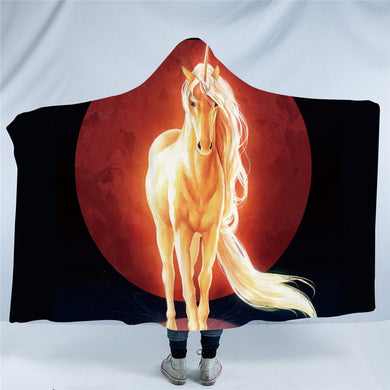 Last Unicorn by JoJoesArt Hooded Blanket - 2 sizes