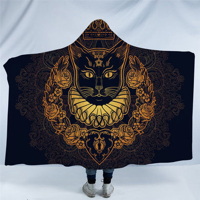 Golden Queen Cat  Hooded Blanket - 2 sizes - My Diva Baby