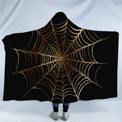 Golden Cobweb Hooded Blanket - 2 sizes