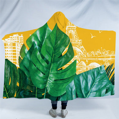 Tropical Leaf Hooded Blanket - 2 sizes