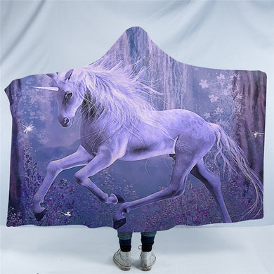 Mystical Unicorn Hooded Blanket - 2 sizes