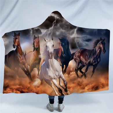 Brumby Lightning Hooded Blanket - 2 sizes