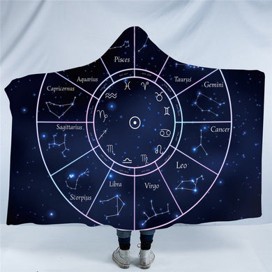 Twelve Constellations Hooded Blanket - 2 sizes