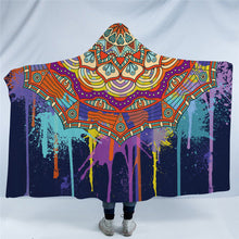 Bohemian Dripping Paint  Hooded Blanket - 2 sizes