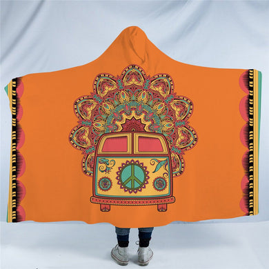 Hippie Bus Hooded Blanket - 2 sizes - My Diva Baby