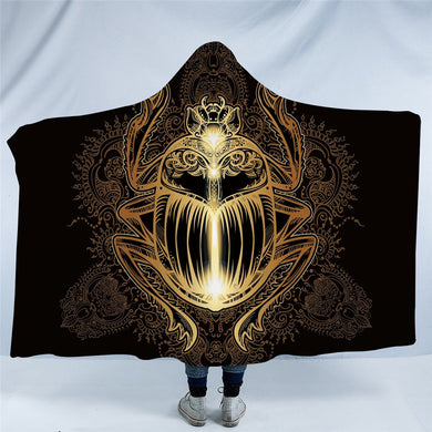 Golden Beetle Hooded Blanket - 2 sizes