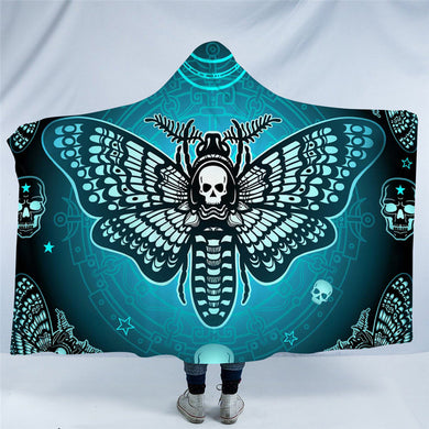 Death Moth Hooded Blanket - 2 sizes - My Diva Baby