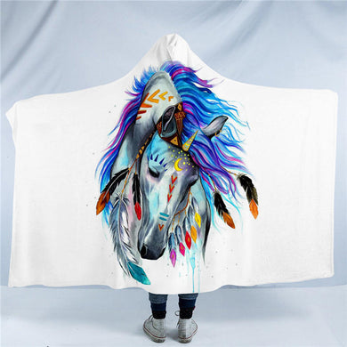 Pferd by Pixie Cold Art - Hooded Blanket - 2 sizes