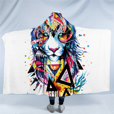 Shattered Tiger by Pixie Cold Art - Hooded Blanket - 2 sizes - My Diva Baby