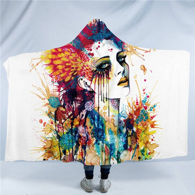 In My Mind by Pixie Cold Art - Flora - Hooded Blanket - 2 sizes