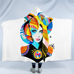 Native by Pixie Cold Art Hooded Blanket - 2 sizes