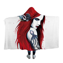 City Ariel by Pixie Cold Art Hooded Blanket - 2 sizes