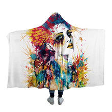 Flora by Pixie Cold Art Hooded Blanket - 2 sizes