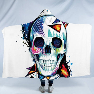 Skull by Pixie Cold Art - Hooded Blanket - 2 sizes - My Diva Baby