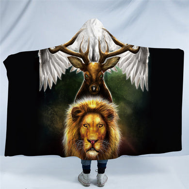 Leaders of the Earth by KhaliaArt - Hooded Blanket - 2 sizes - My Diva Baby