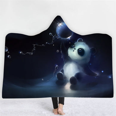 Panda Bubbles Hooded Blanket - 2 sizes