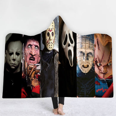 Horrors 6 Of The Best Hooded Blanket - 2 sizes