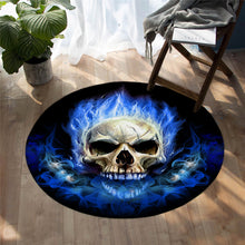 Blue Flame Skull - Mat Round - 3 sizes