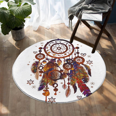 Bohemian Dreamcatcher- Mat Round - 3 sizes