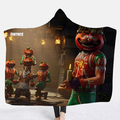 Hooded Blanket - Tomatohead - 2 sizes