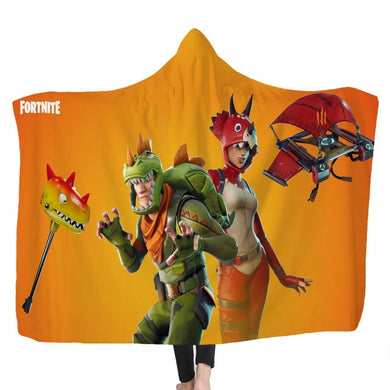 Hooded Blanket - Rex & Tricera Ops - 2 sizes