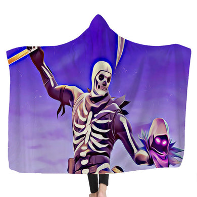 Hooded Blanket - Skull Trooper #4 - 2 sizes