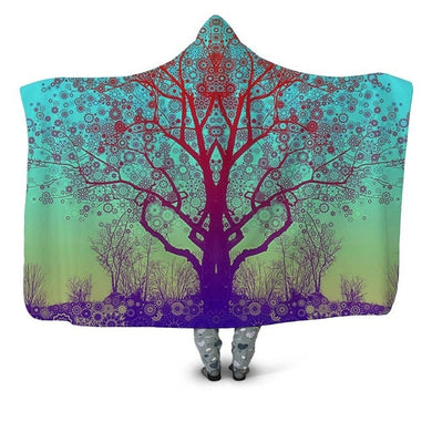 Mandala Tree - Hooded Blanket - 2 sizes
