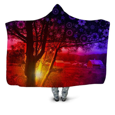 Tree Light - Hooded Blanket - 2 sizes