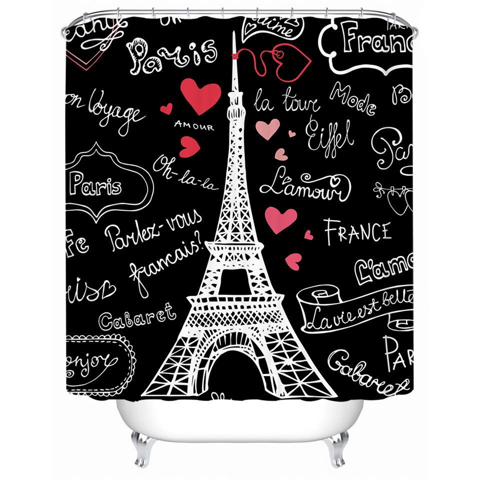 Paris Tower Shower Curtain - Waterproof