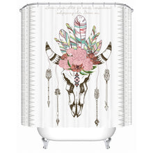 Bull Head Skull Shower Curtain - Waterproof